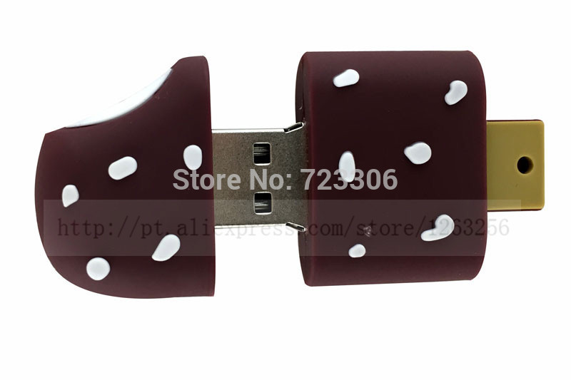 free shipping chocolate ice cream plastic model 2.0 usb flash drive memory card disk / necklace 1 GB 4 GB 8 GB 16 GB 32 GB(China (Mainland))
