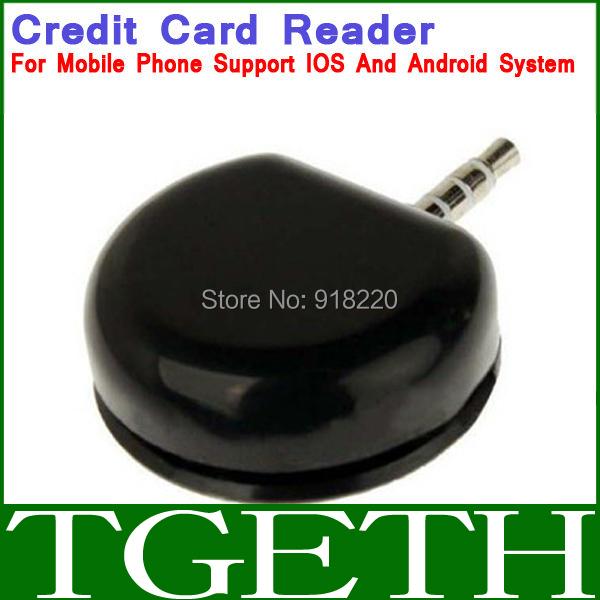 Black 3.5mm Headphone Jack Mini Magnetic Mobile Credit Card Reader Works for Smart Mobile phone(China (Mainland))