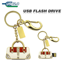 Buy usb flash drive Golden sliver handbag diamond bag U disk pen drive Gift Jewelry 4gb 8gb 16gb 32gb 64gb pendrive memory disk for $2.20 in AliExpress store