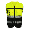 MNDS Yellow Black Work Clothes Reflective Safety Vest Chaleco Reflectante Safety Vest Reflective Vest Gilet Jaune