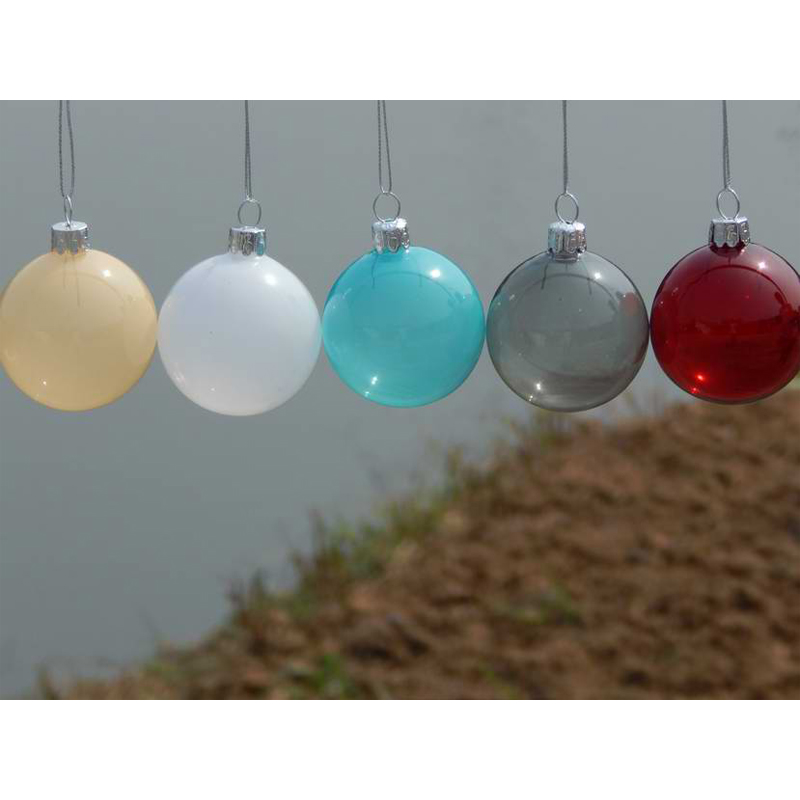 Glass Christmas Balls Decoration Ideas : Pcs lot christmas glass ball clear baubles ornaments