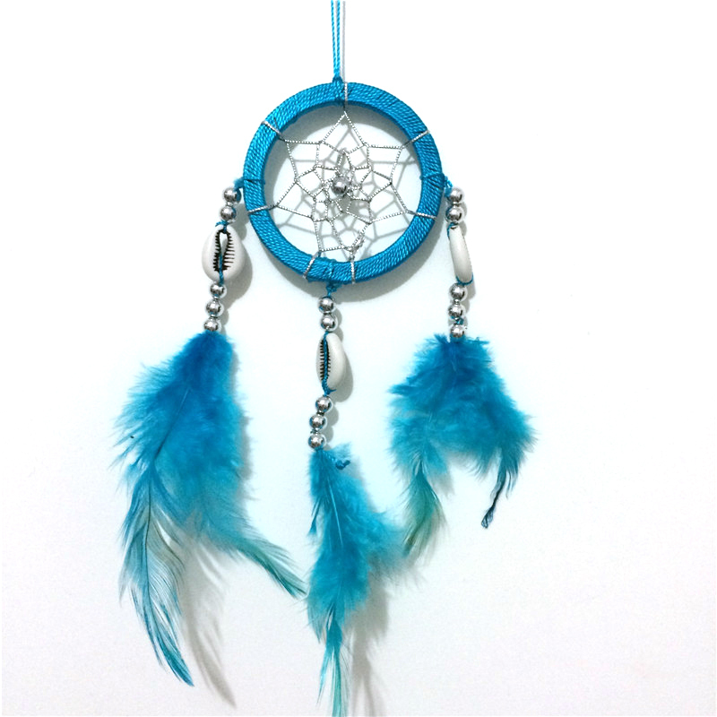 2015 free shipping blue color dream catcher home decoration indian dream catcher(China (Mainland))