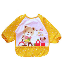 1 pc Baby Bibs Waterproof Lunch Bibs Boys Girls Infants Cartoon Pattern Bibs Burp Cloths For Children Self Feeding Care