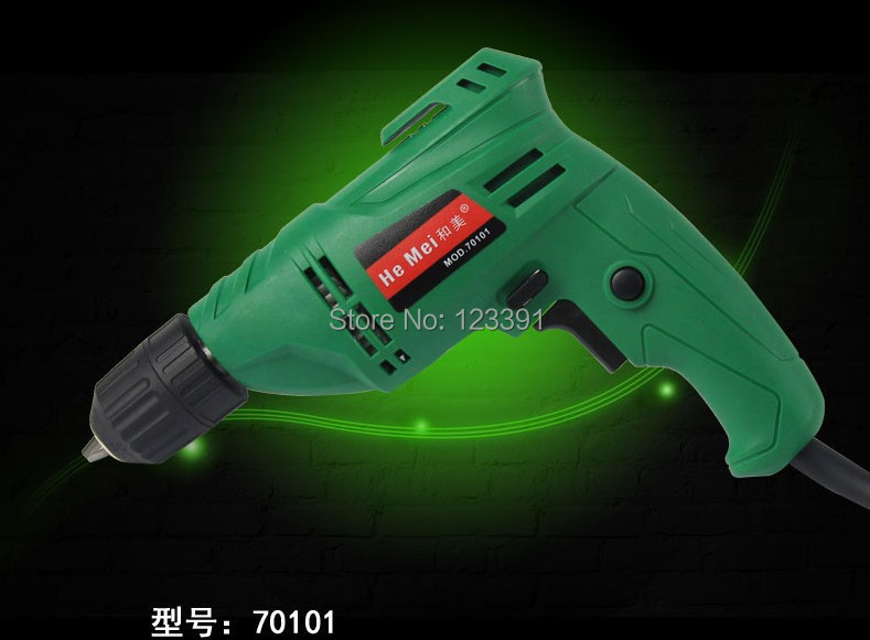 Free shipping of home decoration DIY working 100% pure copper motor 650w multifunctional handheld electric drill universal using(China (Mainland))