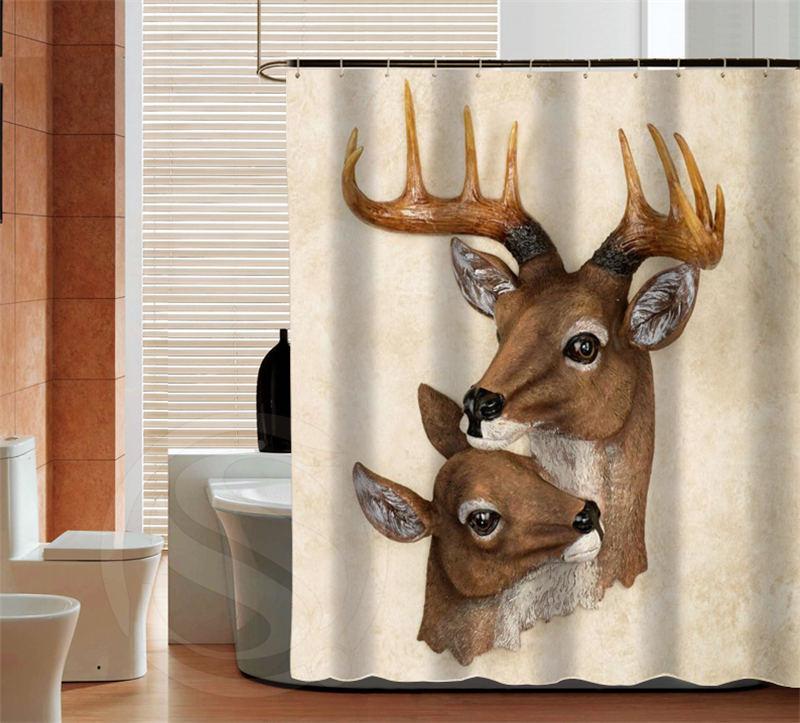 Deer bathroom 28 images woodland tranquil deer buck for Hunting bathroom decor