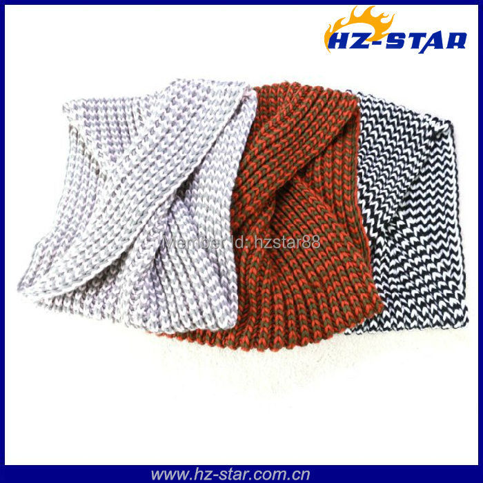 HZW-13100 new design Custom promotion neckwarmer circle warmer azo free knitted snood scarf,lady scarf(China (Mainland))