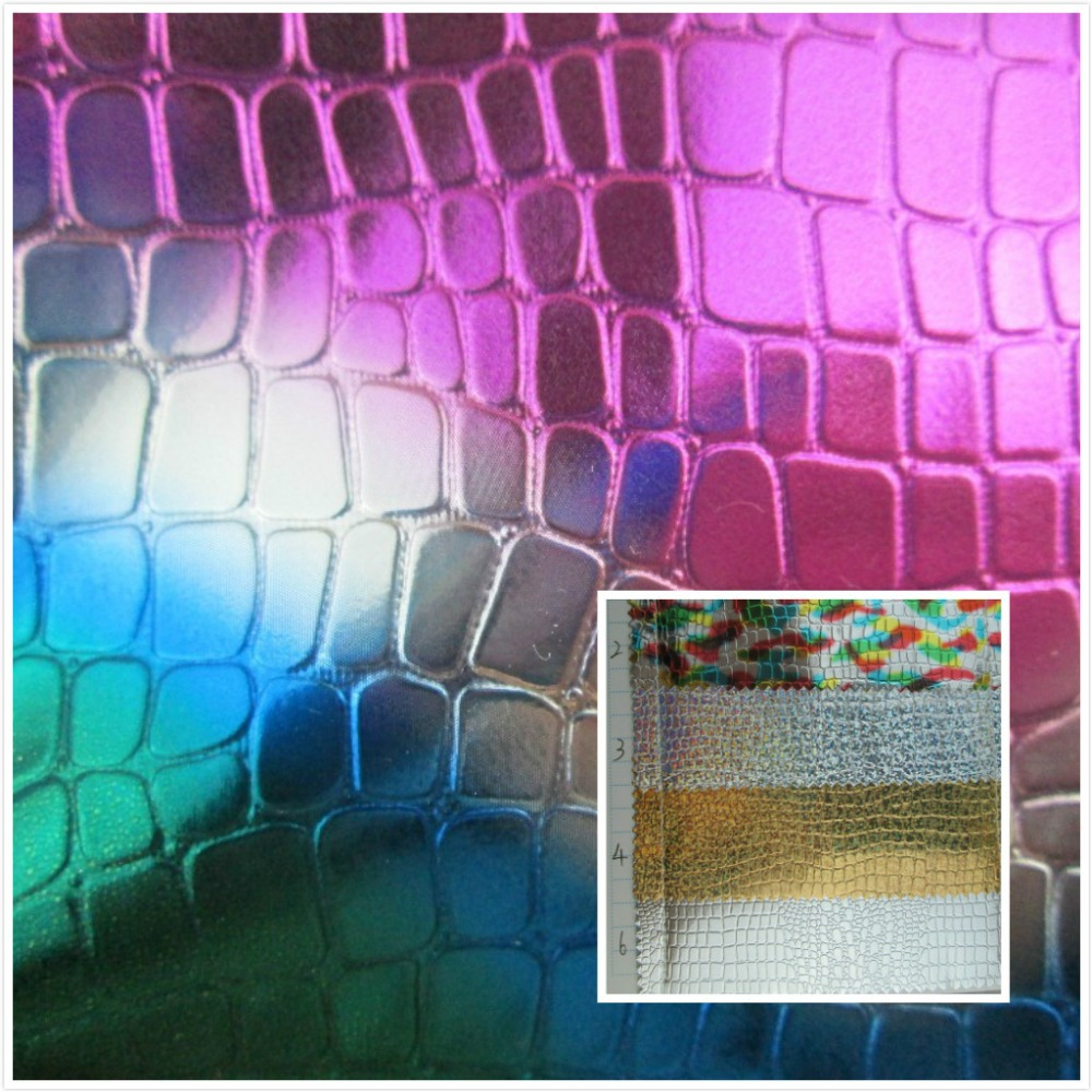 New! 0.5mm Mirror glitter PVC synthetic leather fabric 6 Stone grain style Smooth surface for decorative bag sofa couro cloth(China (Mainland))