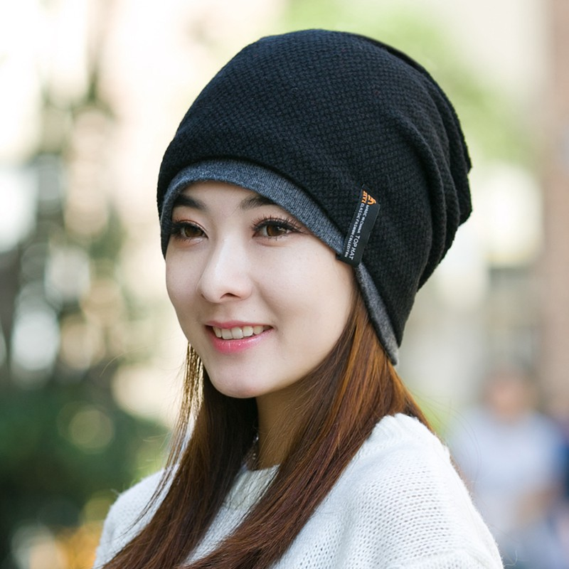 Knitted Winter Hat Millinery Autumn And Winter Month Of Cap Knitted Hat Pocket Hat Piles Of Hat Female Warm Beanies Multipurpose(China (Mainland))