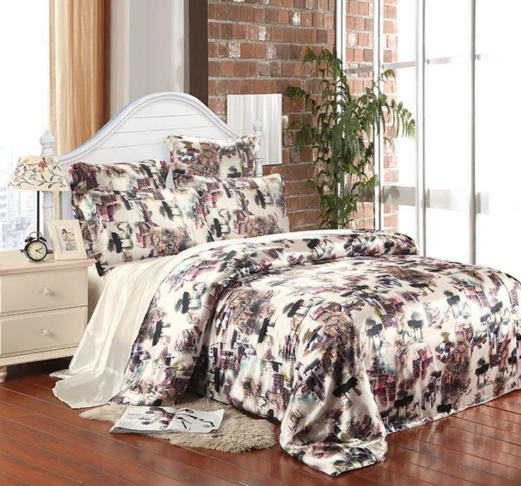 Compra ropa de cama de seda china online al por mayor de china mayoristas de ropa de cama de - Edredon de seda ...
