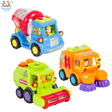 (Set of 3) Wholesale Baby Toys Push and Go Friction Powered Car Toy Trucks Children Pretend Play Toys Great Gift Huile Toys 386(China (Mainland))