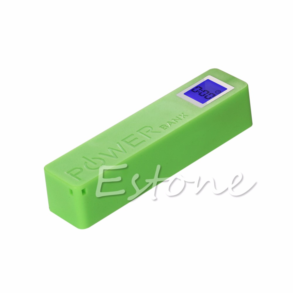 image for 1pc For 2600mAh USB LCD Power Bank Case 18650 Battery Charger DIY Box
