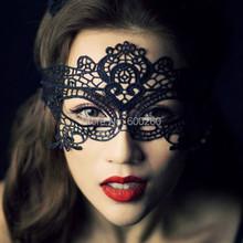 heiße verkäufe schwarz sexy lady spitze maske ausschnitt augenmaske für Maskerade kostüm kostüm(China (Mainland))