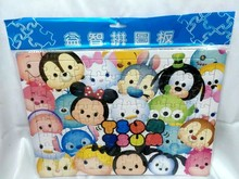 Tsum Tsum Mickey Minnie Cartoon Paper Jigsaw Puzzles Toy for Kids Early Educational Toy(China (Mainland))