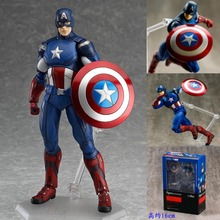Avengers Figma 266 Captain America PVC Action Figure Collectible Model Toy 16cm HRFG434(China (Mainland))