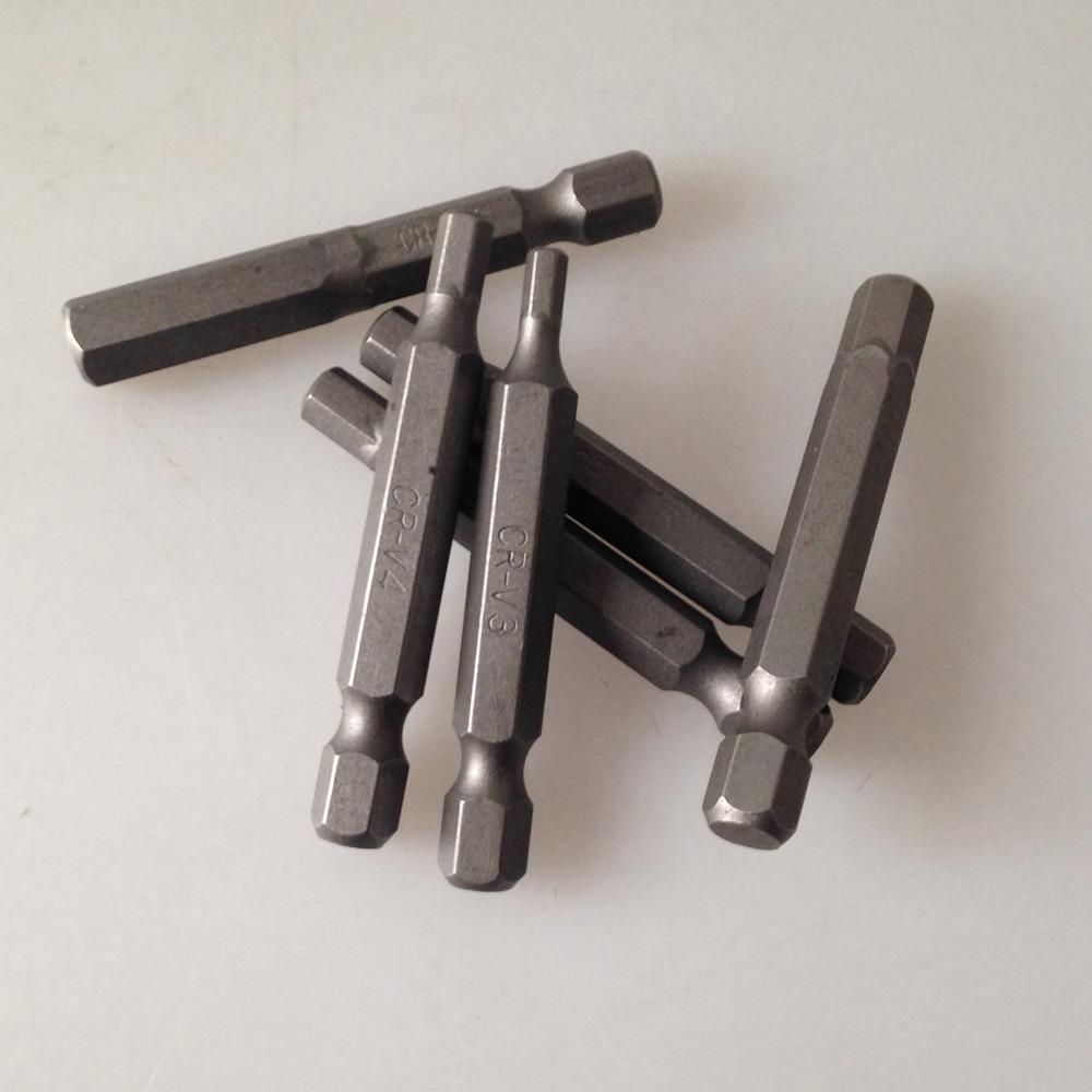 M3 pneumatic air screwdriver bits CR-V hexagon head length 50mm(China (Mainland))