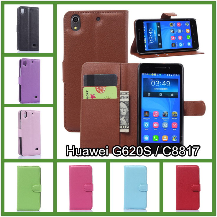 Huawei Ascend G620S/ Honor 4 Play C8817E C8817D Phone case new 2015 litchi texture wallet pu leather flip magnetic cover - BOSO Technology Co., Ltd (ShenZhen store)