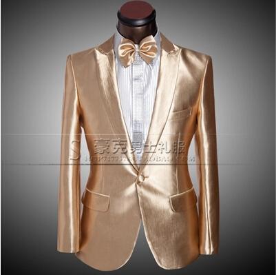 Роскошные золотые вино красное мужской костюм для