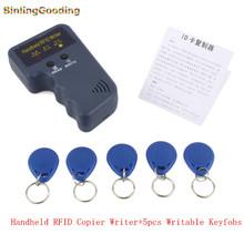 Ручной 125 КГц RFID Копир Писатель RFID Дубликатор EM4100 ID Копир + 5 Шт. EM4305/T5577/CET5200 Перезаписываемый брелки