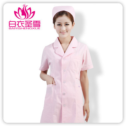 Free shipping women medical uniforms 2015 NEW spring uniformes hospital doctor summer medical scrubs short sleeves lab coat(China (Mainland))