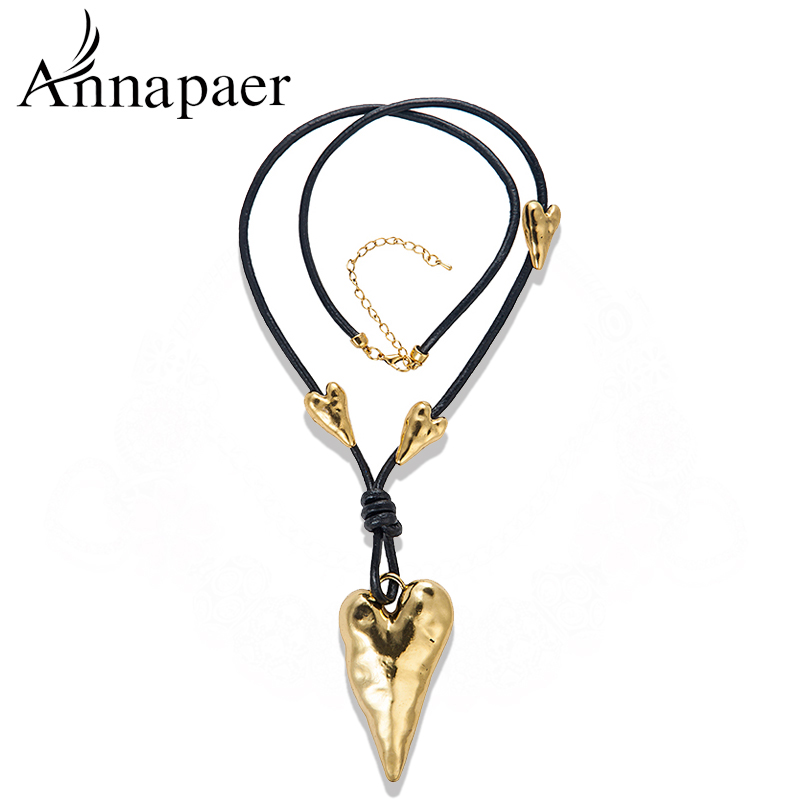 Unique Designer Vintage Jewelry Antique Silver Heart shape charms Necklaces&Pendants,Long Necklace Sweater Chain - ANNAPAER Online Store store