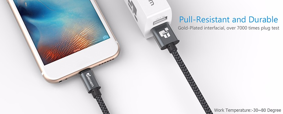 TIEGEM Original  USB 3.1 USB Type C Cable Nylon Line and Metal Plug Type-C USB for Xiaomi 4C / Leshi / Nokia N1 / ZUK-ZE etc