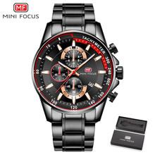 MINI FOCUS marque de luxe hommes montres en acier inoxydable mode montre pour homme Quartz montre hommes étanche Relogio Masculino bleu(China)