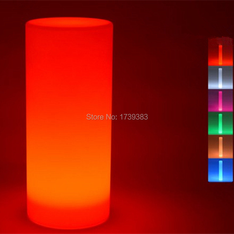Waterproof multicolor Height 75 CM LED Large Tower Pillar Floor lamp outdoor round S column lights of landscape lighting(China (Mainland))