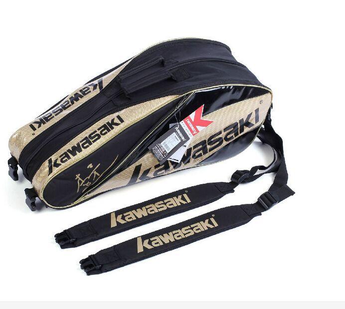 Kawasaki Zipper Unisex Gym Bags badminton racket bag packaging film sets(China (Mainland))