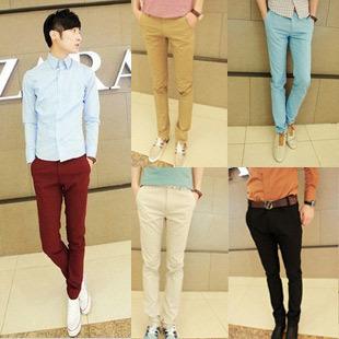 Men Colorful Skinny Dress Pants Promotion-Shop for Promotional Men ...
