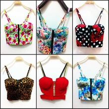Wholesale drop shiping for Women Harajuku Style Women Vintage Bustier Crop Tops Sexy Cropped Camisole Bra Tank Top Veat(China (Mainland))