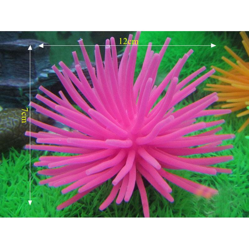 Silicone Aquarium Fish Tank Aquarium Accessories Artificial Coral Plant Underwater Ornament Decor 6pcs Free Shipping(China (Mainland))