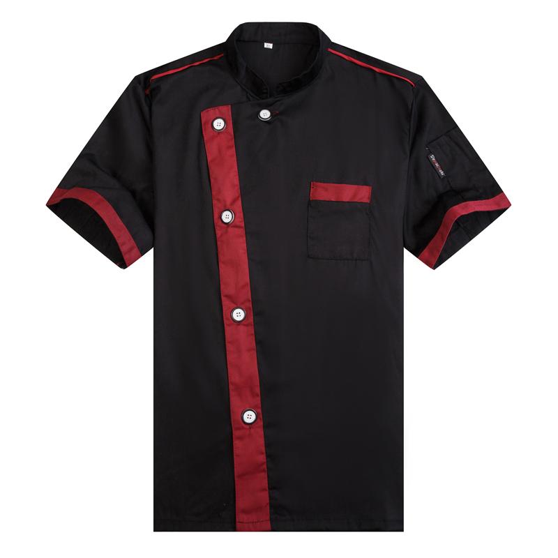 Chef jacket wear short sleeved Summer Hotel Restaurant Kitchen Chef Uniform Size chef uniform ventilation(China (Mainland))