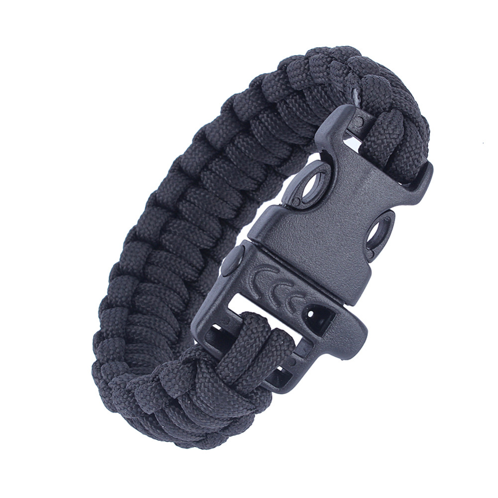 US Military Army Utility Tactical Airsoft Hunting Camping Hiking Paracord Whistle Lifesaving Bracelet Braided Rope Wrist Band(China (Mainland))