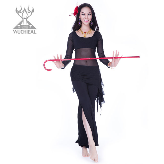 India Sexy Nice Belly Dance Costumes, Hot Professional Silk Practice Wear QC2157 - Guangzhou Qiancai Dancing Clothes Crafts Factory store