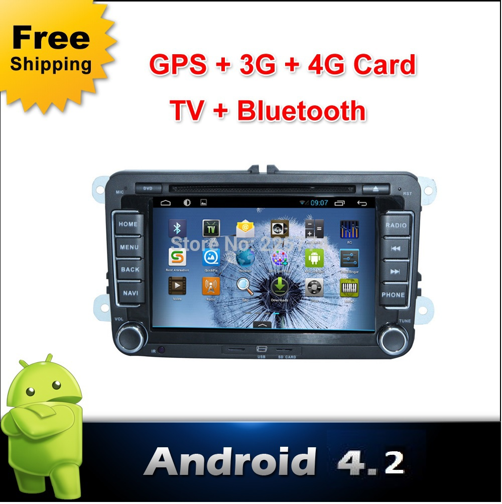 Android Car DVD player Volkswagen VW Skoda POLO PASSAT JETTA TIGUAN TOURAN SHARAN CADDY GOLF camera parking GPS Radio 2din - beley Dvd, Co, Ltd store