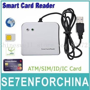Free Shipping EMV PS/SC USB Credit card reader Smart Card Reader and Writer ISO 7816+1 CD Drive(China (Mainland))