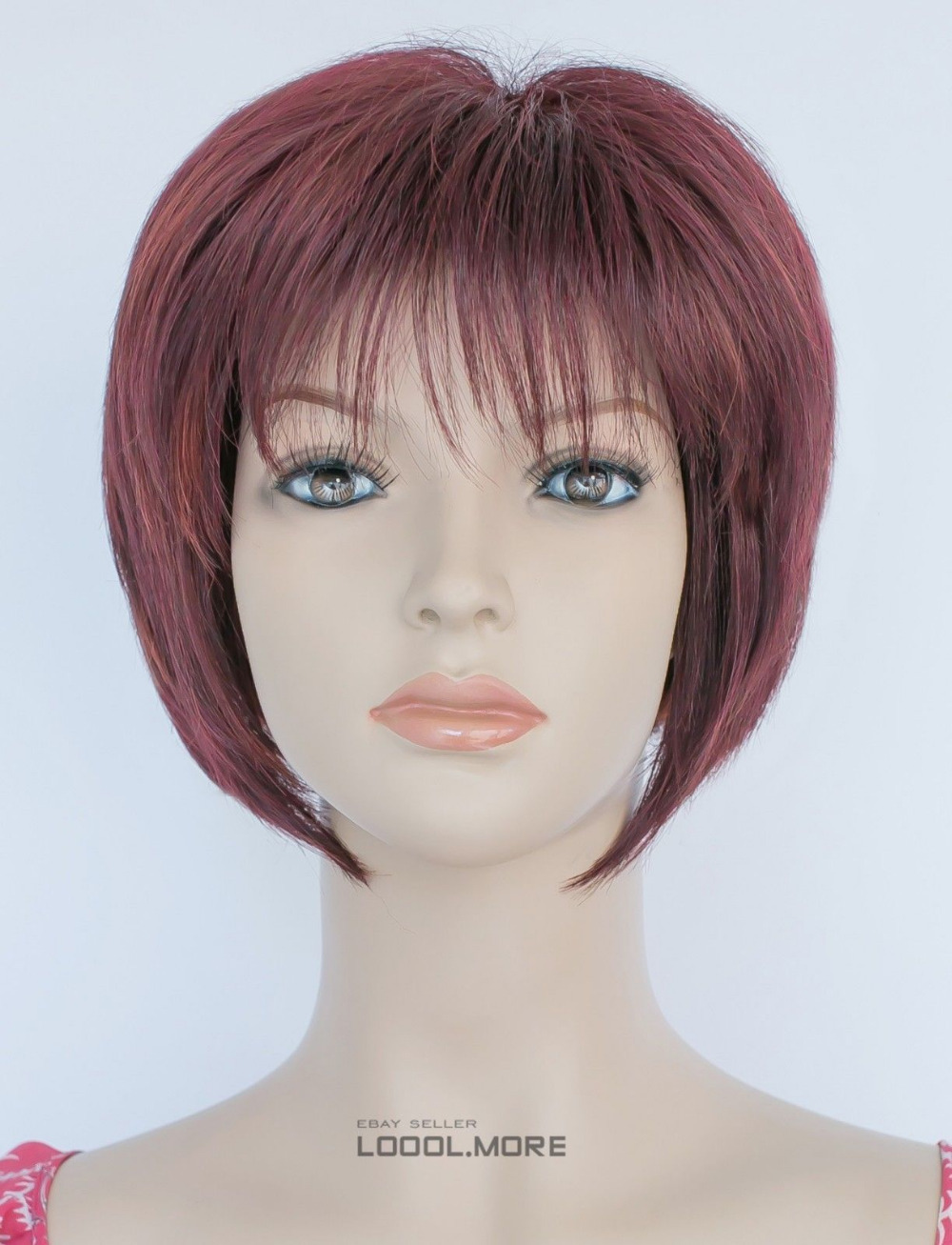 GOOD Express delivery to USA BOB Burgundy wine-red Mixed Short Women Daily Hivision Synthetic Wig s1025(China (Mainland))