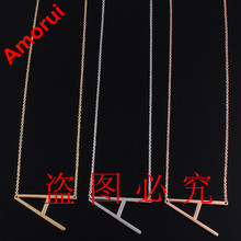 18K Rose/Gold/Silver Alfabet Letter Collar Choker Body Chain Necklace Women Arabic Jewelry Collier Alphabet Necklaces(China (Mainland))