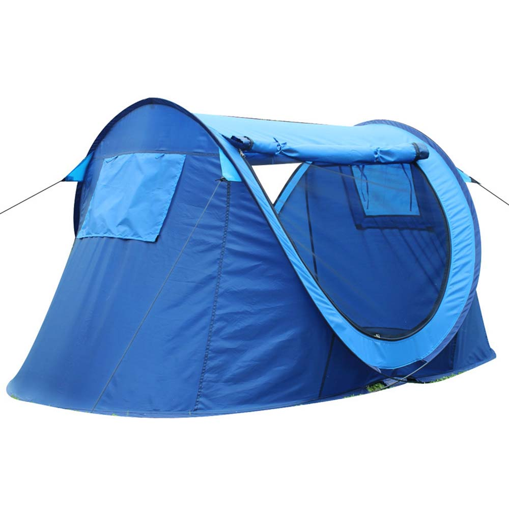 Beach Tent Outdoor Travel Tent Sky Blue Automatic Tourist Tents Family Easy Setup Pop Up Camping Hiking Instant Tent(China (Mainland))