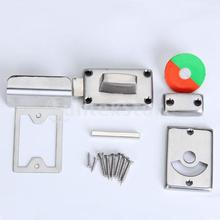 Free Shipping Vacant and Engaged Toilet Indicator Bolt Door Lock Stainless Steel(China (Mainland))