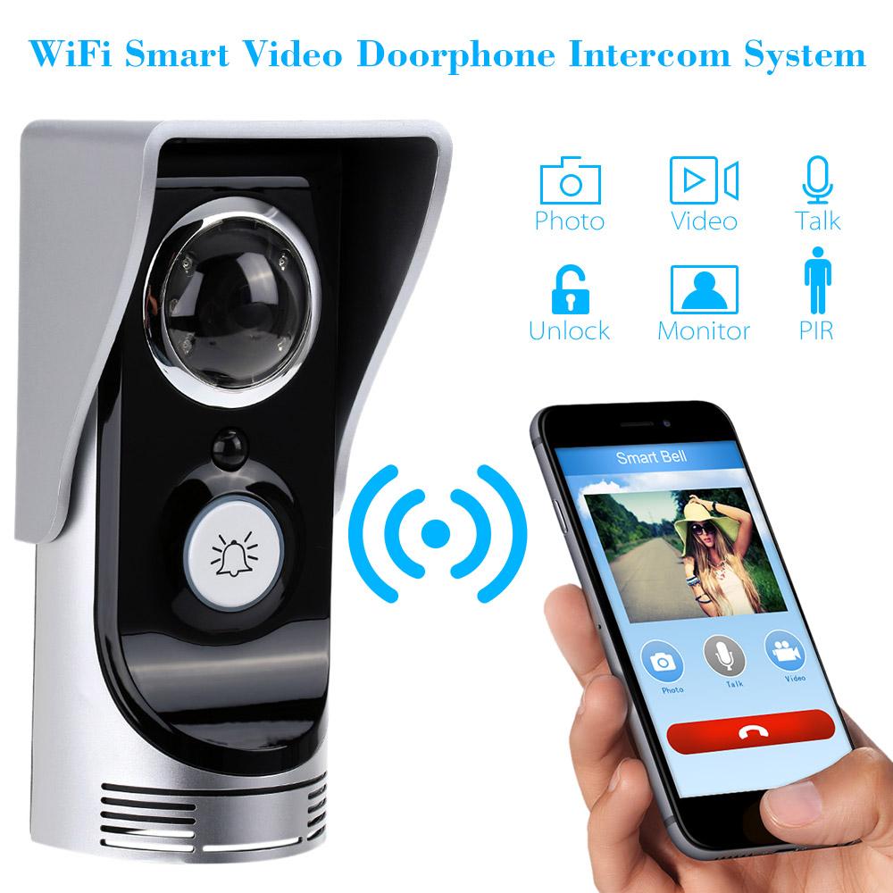 Smart WiFi Smart Video Door phone 0.3Mega Pixels Wireless Video Doorbell Camera Video Intercom System Rainproof Android IOS APP(China (Mainland))