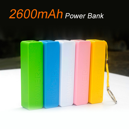A18 Colorful Mini Power Bank Key Chain USB 18650 Battery Charger for iPhone for Samsung for HTC for Huawei(China (Mainland))