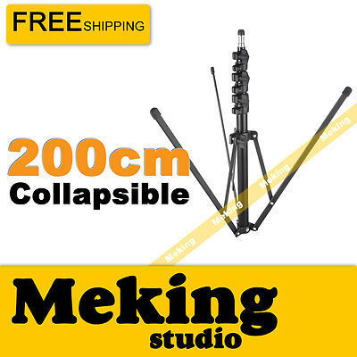 "Meking Collapsible Light Stand 200cm/6'6"" for Photo Studio Lighting Equipment"