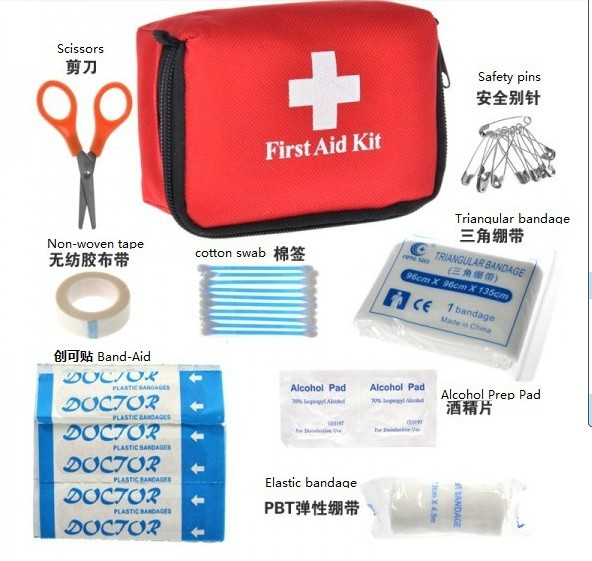 First Aid Kits Outdoor 9in1 Mini emergency first aid kits medical - Yiwu Xutai Camping Products Co.,Ltd store
