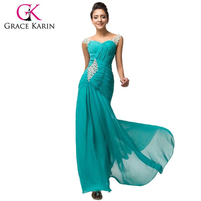 Новый темно-бирюзовый вечернее платье грейс карин роскошные длинные милая формальный ...