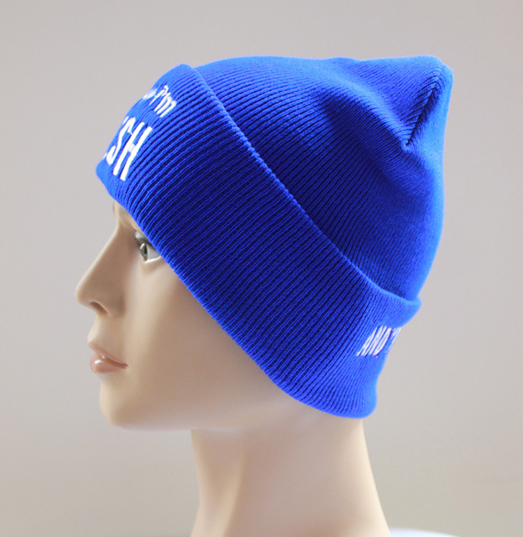 2016 fall winter Knitting Hat with letters Hip-Hop Cap MEOW Cap Men Casual black hat Wool Beanie women casual Fashion warm(China (Mainland))