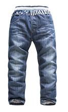 High-end designer jeans big virgin plus velvet plus thick velvet jeans child warm cotton pants trousers boys and girls(China (Mainland))