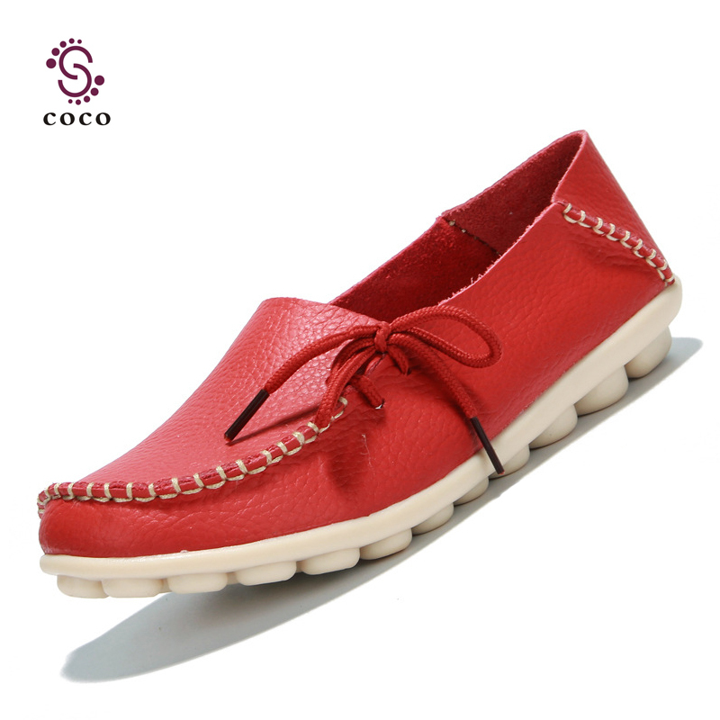 New 2015 Fashion Style women flats Genuine Leather shoes women loafers ballet flat shoes 8 Colors Moccasins Slip On shoes(China (Mainland))
