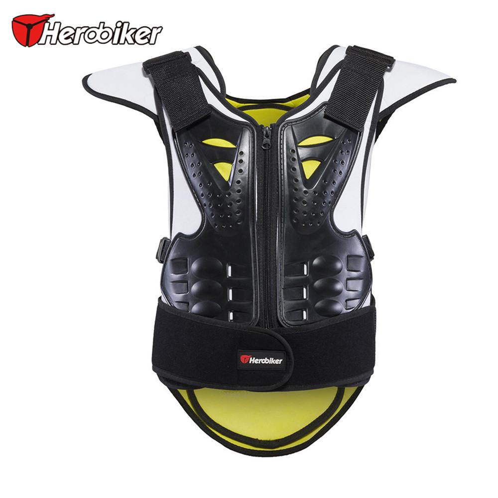 2016 HEROBIKER Kids Children Motorcycle Body Armor Vest Anti-Wrinkle Motocross Unisex Motorcycle Protective Gear Waistcoat(China (Mainland))