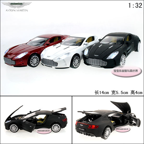 /1:32, aston Martin ONE - 77, luminous voice, four open the door, delicate alloy car model,children toys cars